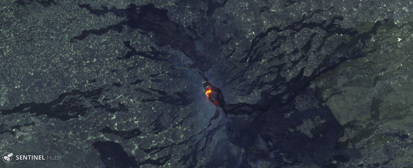 Erta Ale - débordement du lac de lave le 19.01.2017- image Sentinel Hub