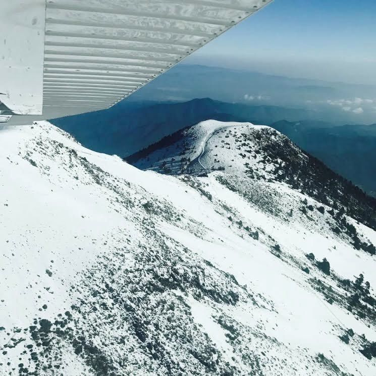 Fuego and Acatenango : fly over snowy summits - photos 22.04.2017 via Peter Hahn