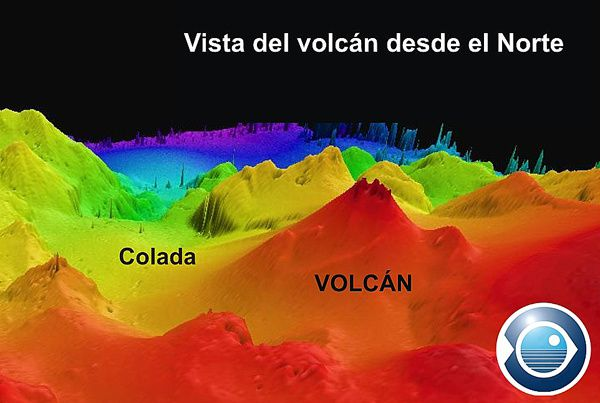 Bathymetric image of the submarine volcano Tagoro - doc. IEO - Instituto Español of Oceanografía