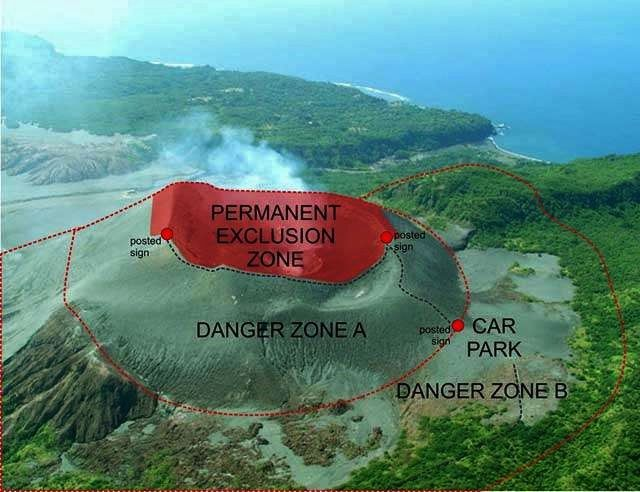 Yasur - map of risk areas - Doc. Vanuatu Geohazards Observatory 22.05.2017 / 14h49