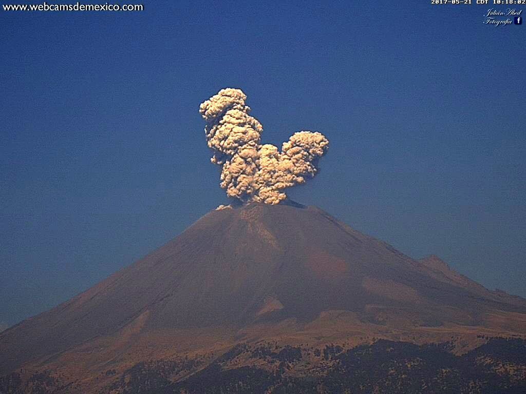 Popocatépetl - 21.05.2017 / 10h17 - photo WebcamsdeMexico