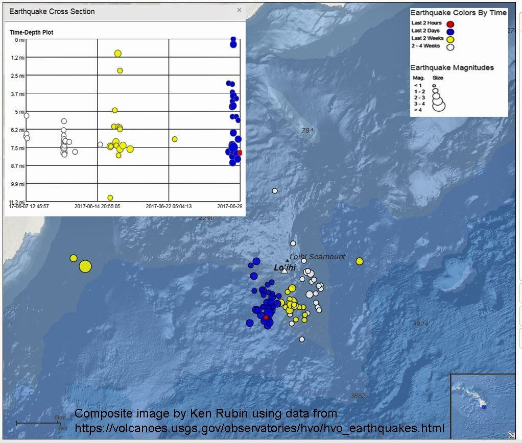 Loihi seamount - earthquakes on 01.07.2017 - Doc. USGS changed by Ken Rubin