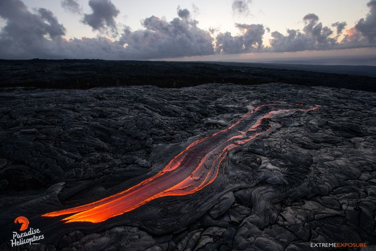 Kilauea - 61 g lava flow breakout - photo Paradise Helicopters
