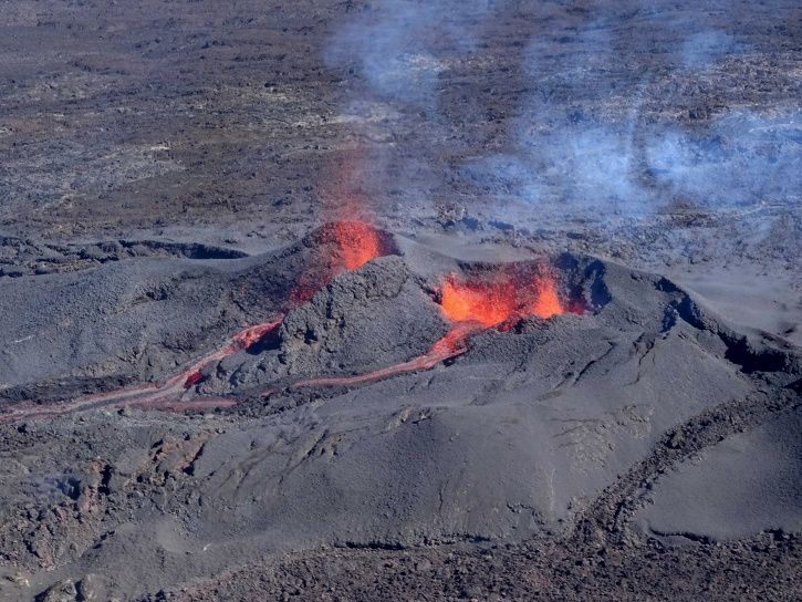 Piton de La Fournaise: Shooting of the eruptive site on July 15, 2017 at 2:00 pm, local time. (© OVPF / IPGP)