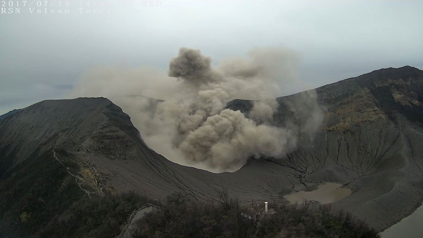 Turrialba - 19.07.2017 - webcam RSN