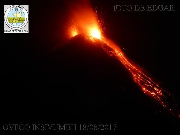 Activity of 18.08.2017 at the Fuego - OVFGO / Insivumeh photos