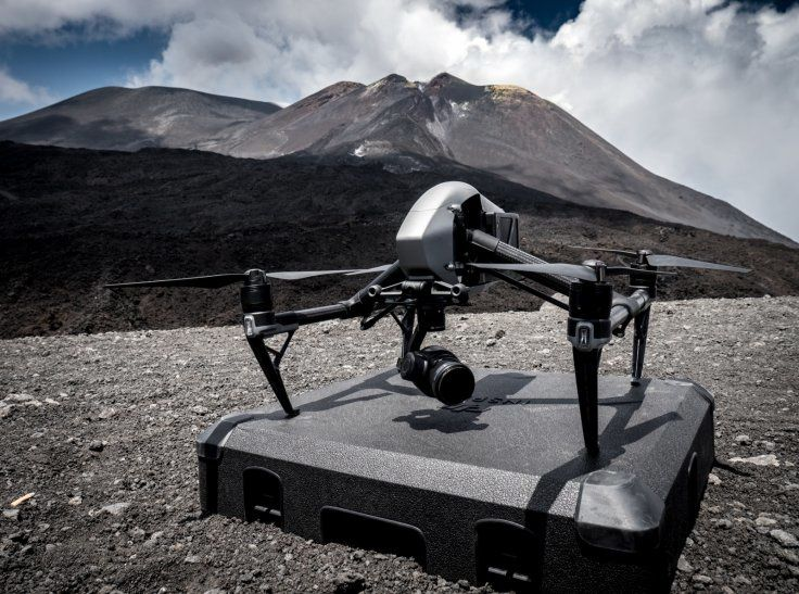Drone DJI equipped with a thermal camera for a study on Etna - doc. DJI - ibtimes.co.uk