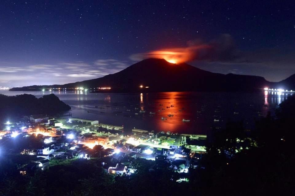 Sakurajima - 23.08.2017 / 01h39 locale   - photo  Koki Arima  / FB