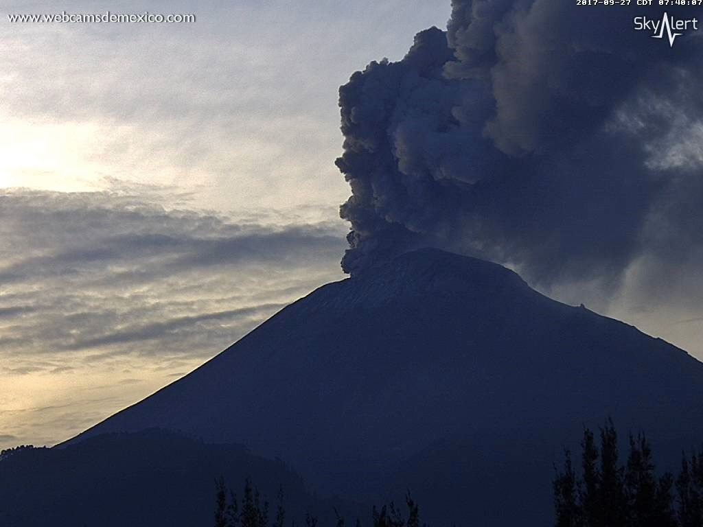 Popocatépetl - 27.09.2017 / 7h40 local - WebcamsdeMexico