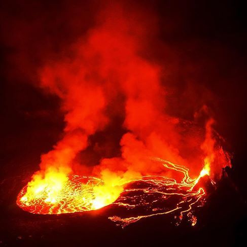 Nyiragongo - photo Danielle Hart Smith / Instagram 19.10.2017