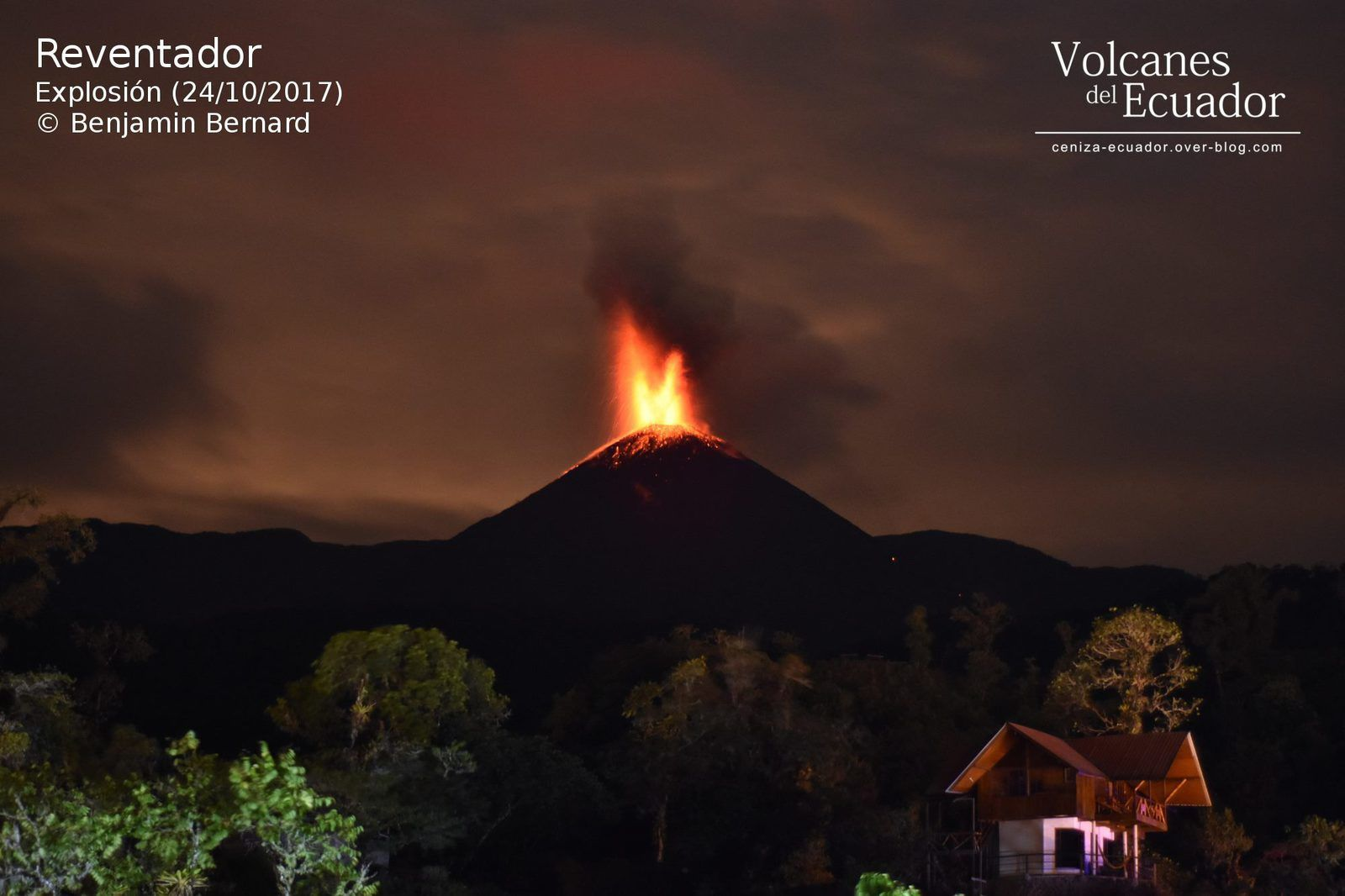 Reventador - explosive activity from 24.10.2017 - photo Benjamin Bernard / IGEPN via Ecuador volcanoes