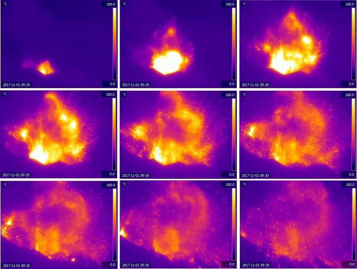 Stromboli - explosion majeure le 01.11.2017 / 8h29 - Doc.Laboratoria Geofisica Sperimentale