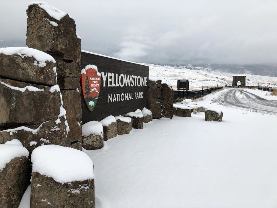 Yellowstone - first important snow - photo Yellowstone for ever 03.11.2017