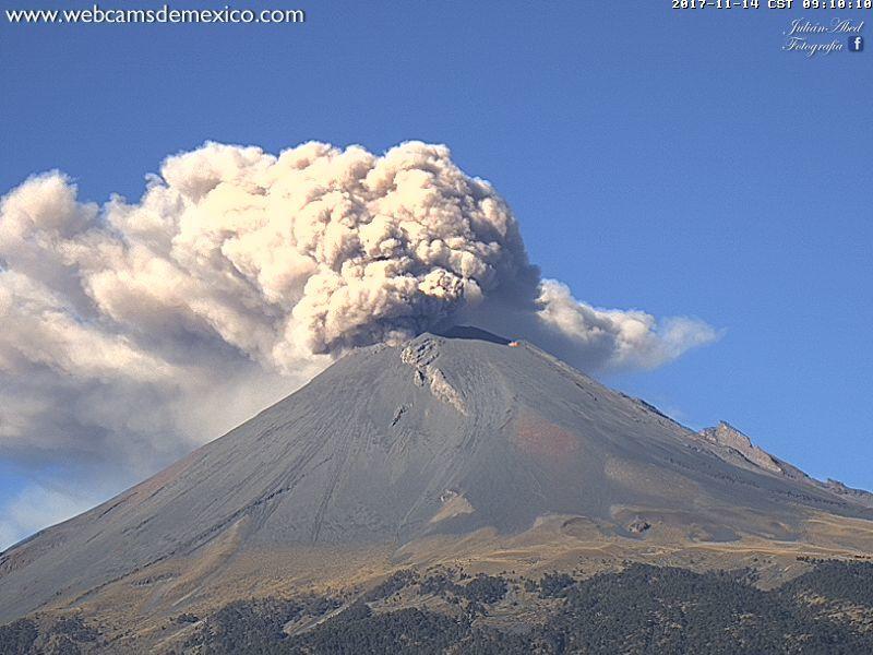 Popocatépetl - 14.11.2017 / 9h10 - webcamsdeMexico