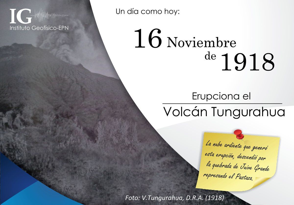 An anniversary in Tungurahua: eruption of 16.11.1918 - Doc. IGEPN