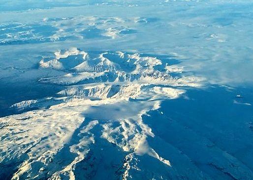 A ice-cauldron can be seen on the glacier Öræfajökull - photo Ágúst J. Magnússon. via IMO 17.11.2017