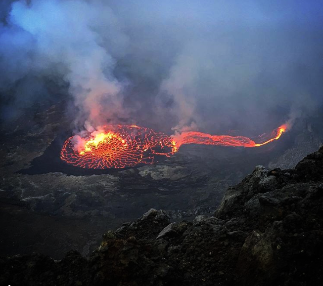 Nyiragongo - 06.10.2017 - Photo  Instagram Aminah Brunt