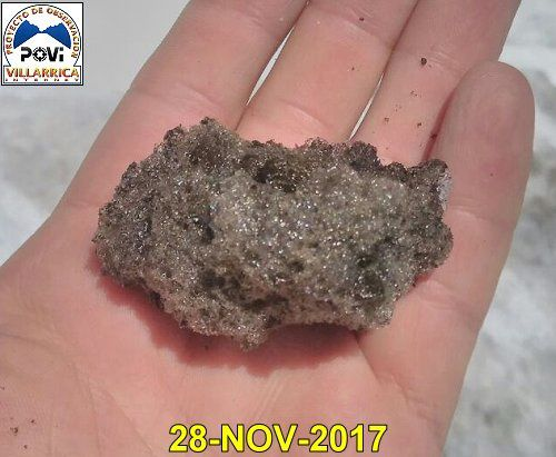 Villarica - reticulitis sample - photo POVI 28.11.2017