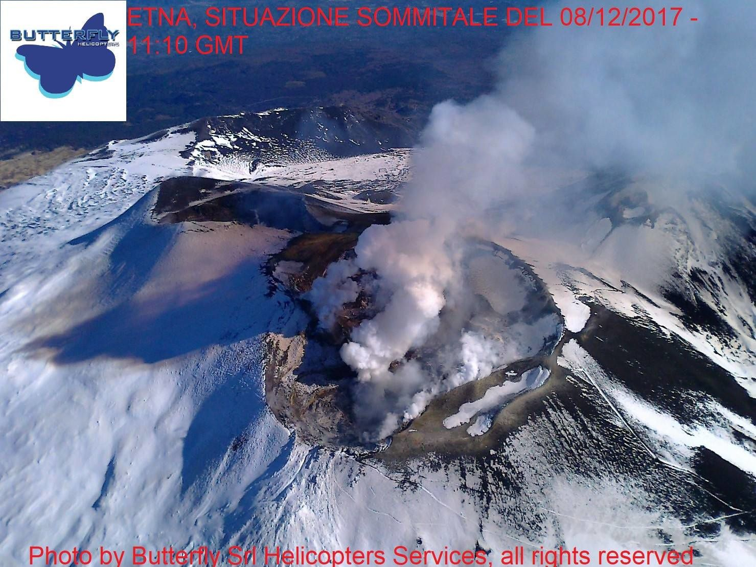 Etna  - 08.12.2017 / 11h10 GMT - photo  J.Nasi /  Butterfly Helocopters