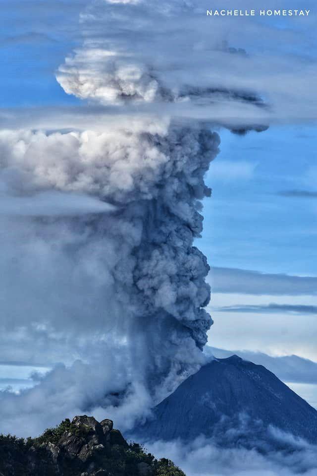 Sinabung - activity from 13.12.2017 / 08h03 am - photo Berastagi Nachelle Homestay