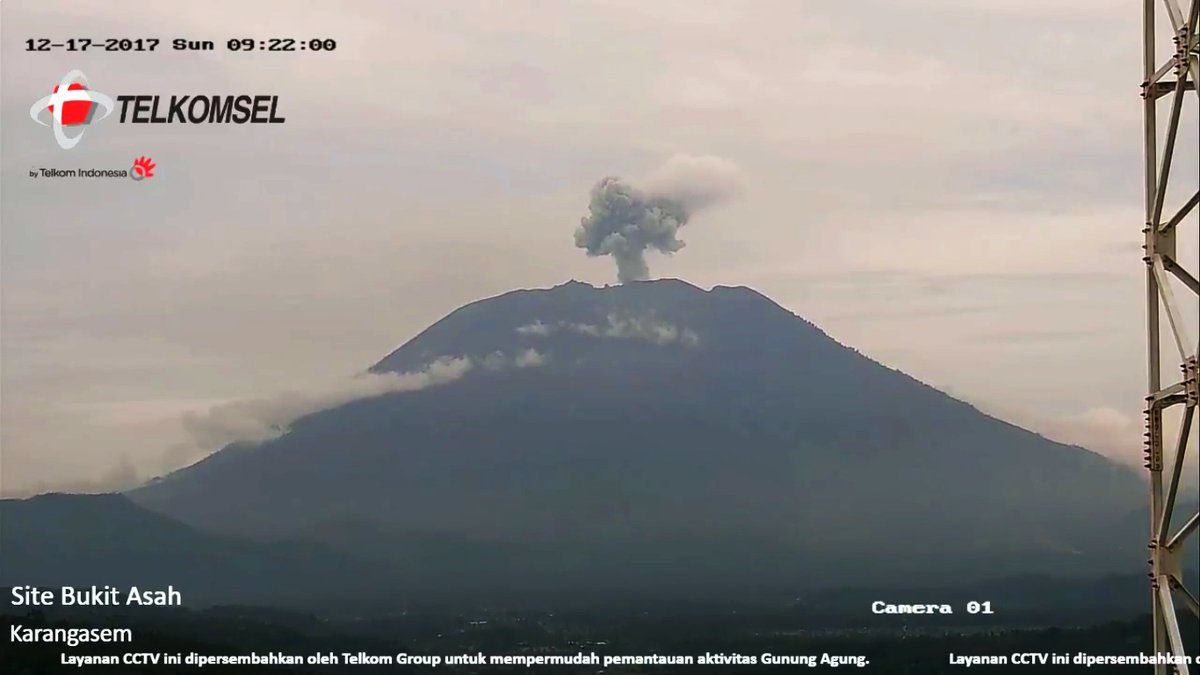 The agung this morning - 17.12.2017 / 9h22 - camera Telkomsel