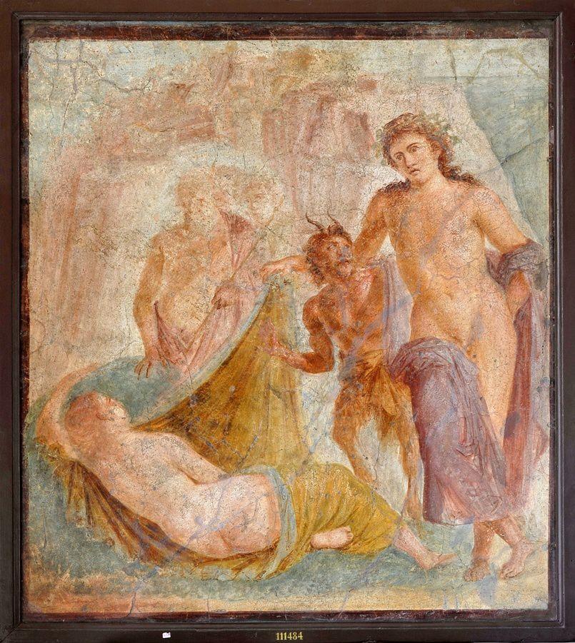 Bacchus et Ariane - fresque  - Museo Archeologico Nazionale di Napoli / ©Tempora