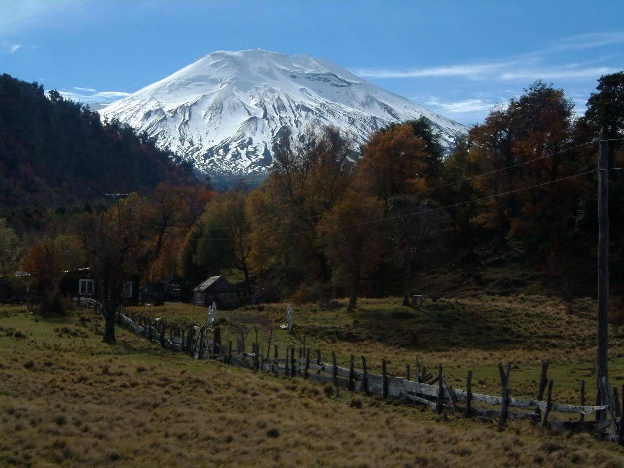 Le volcan Lonquimay - photo webshots