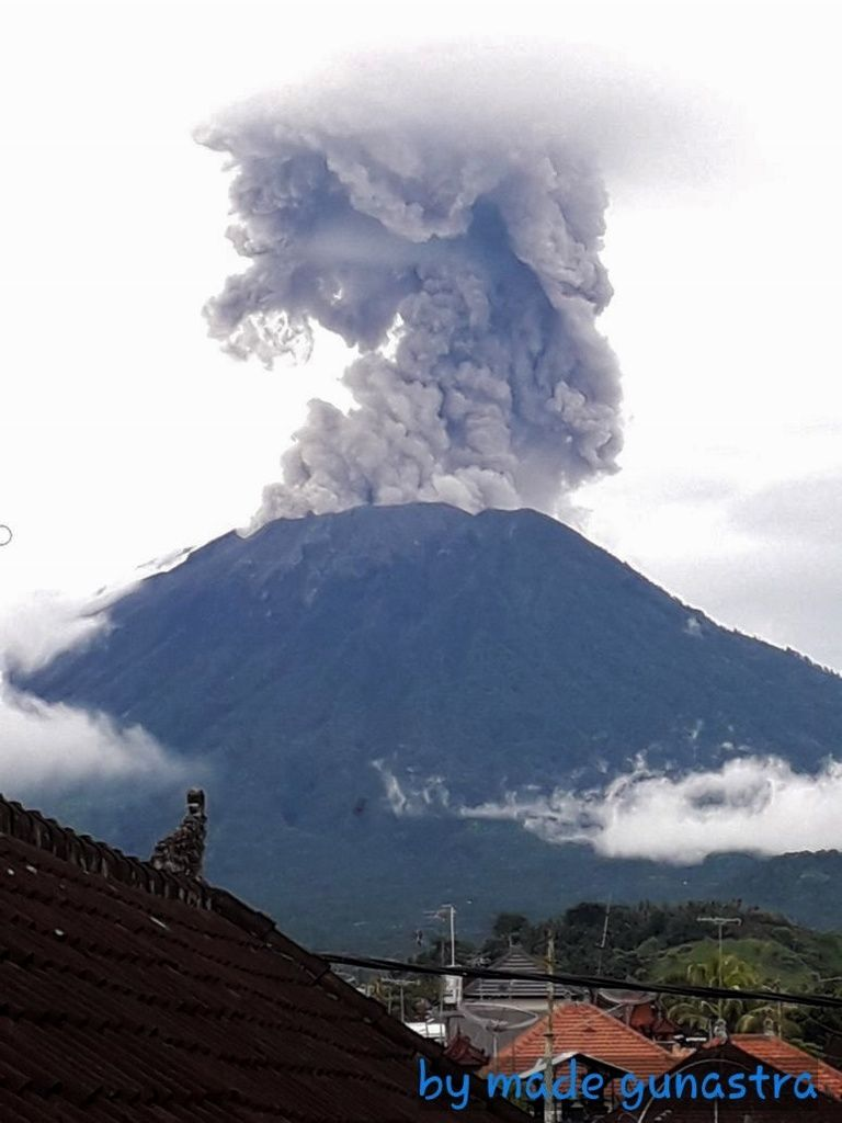 Agung - 11.01.2018 / 18h Wita - photo BNPB