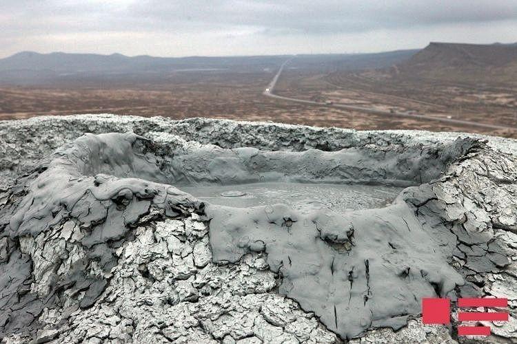 Mud volcano - 05.01.2018 - Gushchu village of Azerbaijan's Shamakhi district./ APA