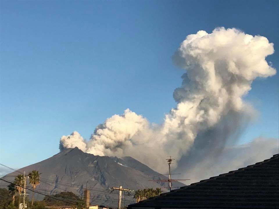 Sakurajima Minamidake 15.01.2018 - photo Takayuki Uchimura / via Shérine France
