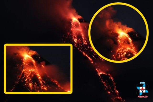 Mayon - lava fountains January 27-28 in the night - photo Phivolcs