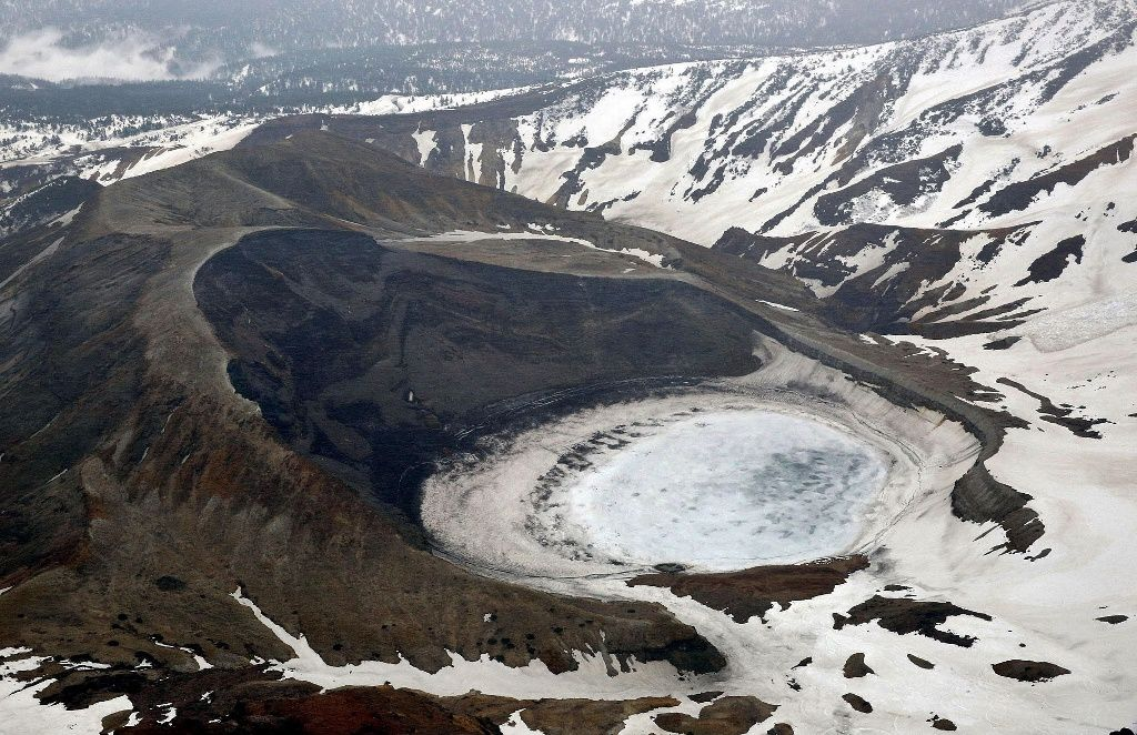 The Okama crater of Zaozan - Kyodo photo