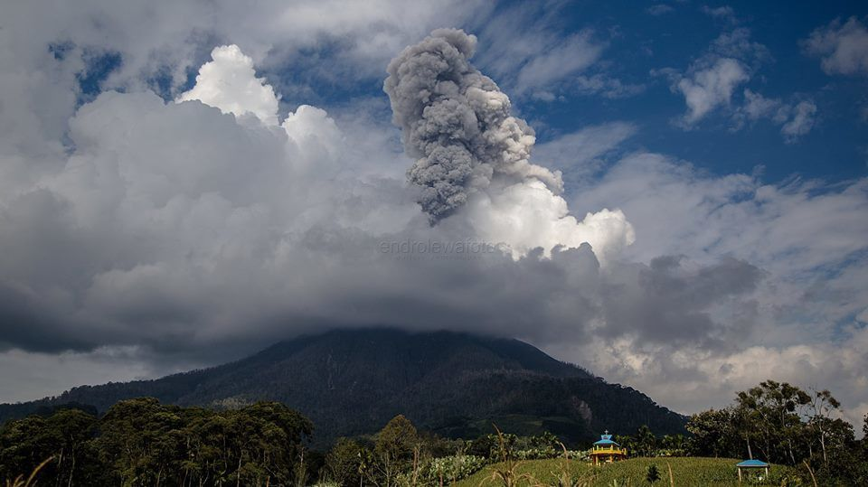 Sinabung - 31.01.2018 / 15h25 - photo Endro Lewa