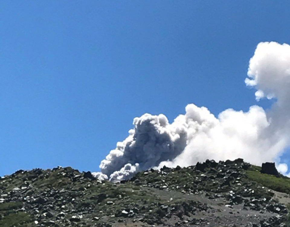 Nevados de Chillan  - explosion le 02.02.2018 / 12h02 - photo Sernageomin