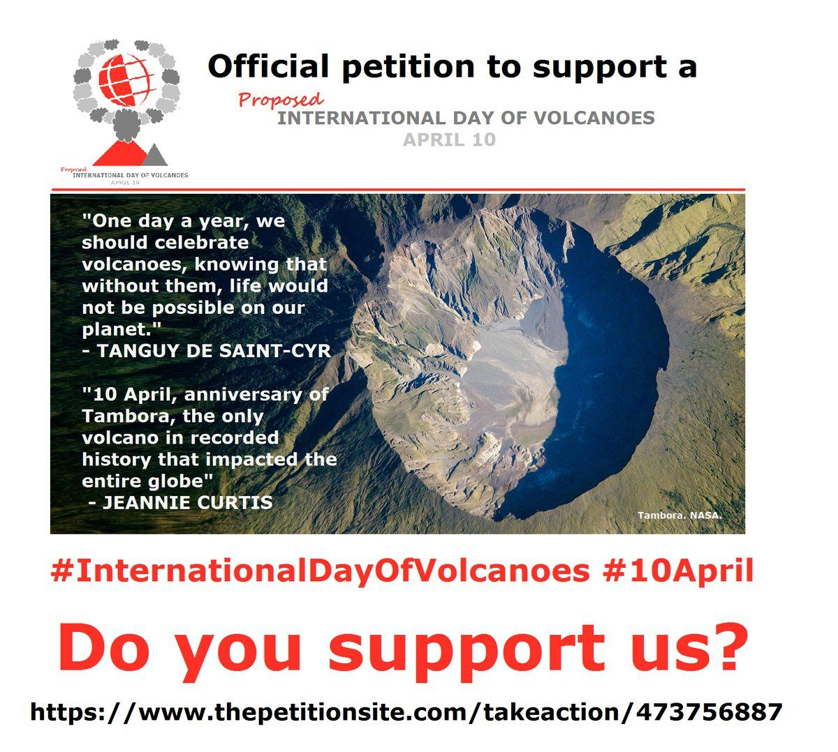 "Sign the petition for the establishment of an ""International Day of Volcanoes"""