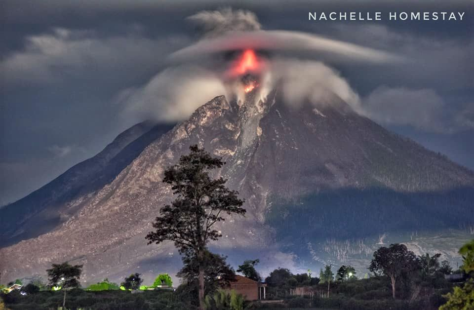 Sinabung - activity from 03.02.2018 / 22h42 - photo Berastagi Nachelle Homestay