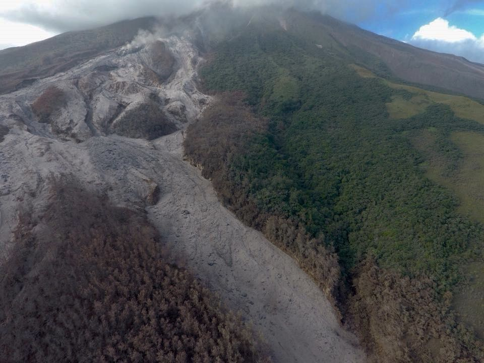 Mayon - pyroclastic flow deposit in Miisi drainage - photo Peewee C. Bacuño 02.02.2018