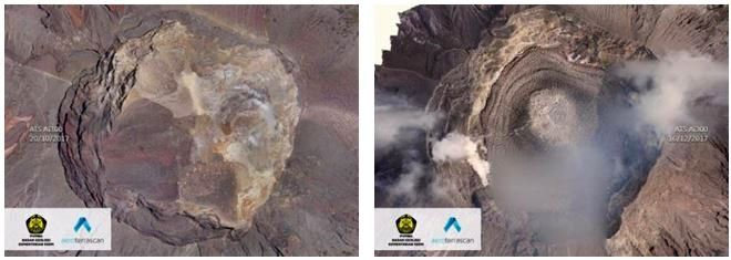 Agung crater - between 20.10.2017 and 10.02.2018 -photo drone PVMBG