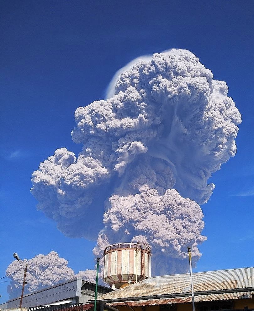 Sinabung -  éruption du 19.02.2018 / 8h53 - photo PVMBG