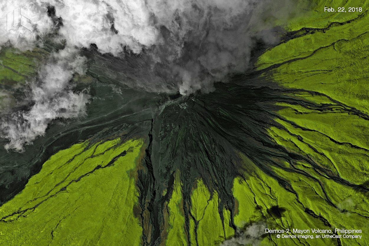 Mayon, seen by Deimos2 on 22.02.2018 - to see in full screen / one click to enlarge
