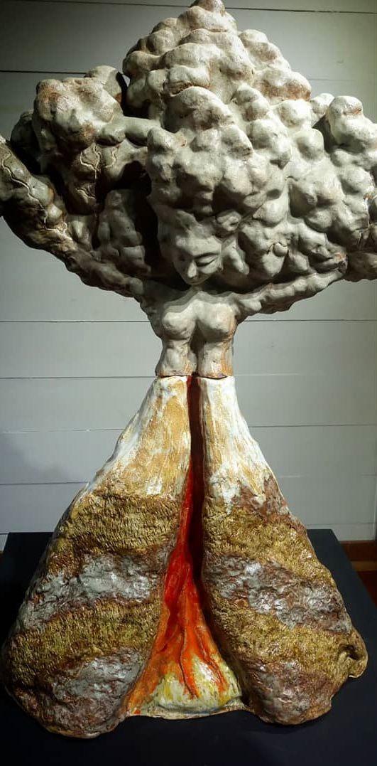 """Exhibition """"Cerámica y Volcanes"""", by Carolina Nieto.- photo-graph"""
