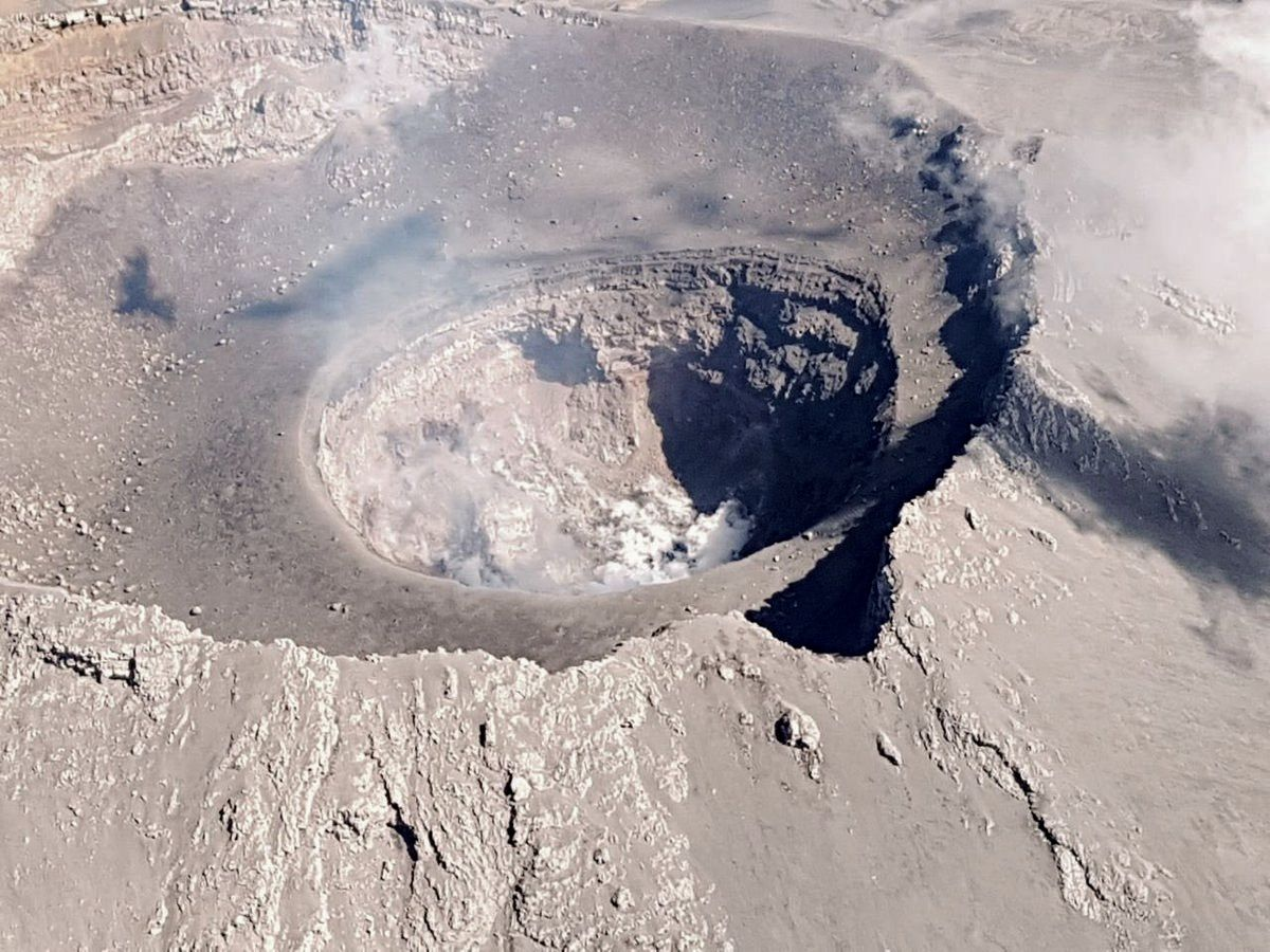 Popocatepetl - the internal crater - photo Cenapred / Pol.Federal