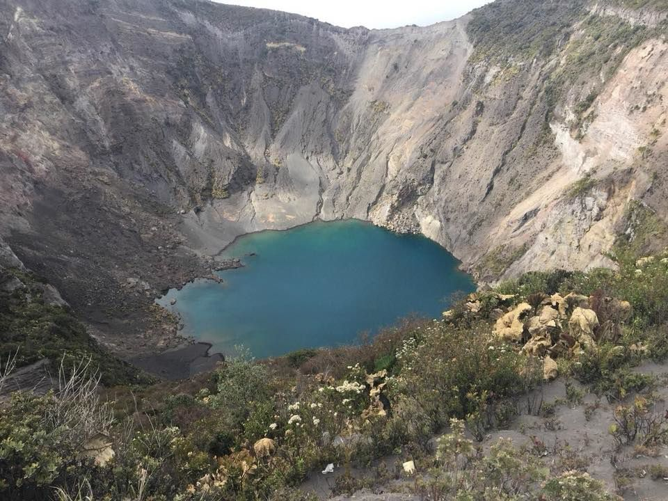 Irazu - the crater lake on 17.03.2018 - Doc.Ovsicori