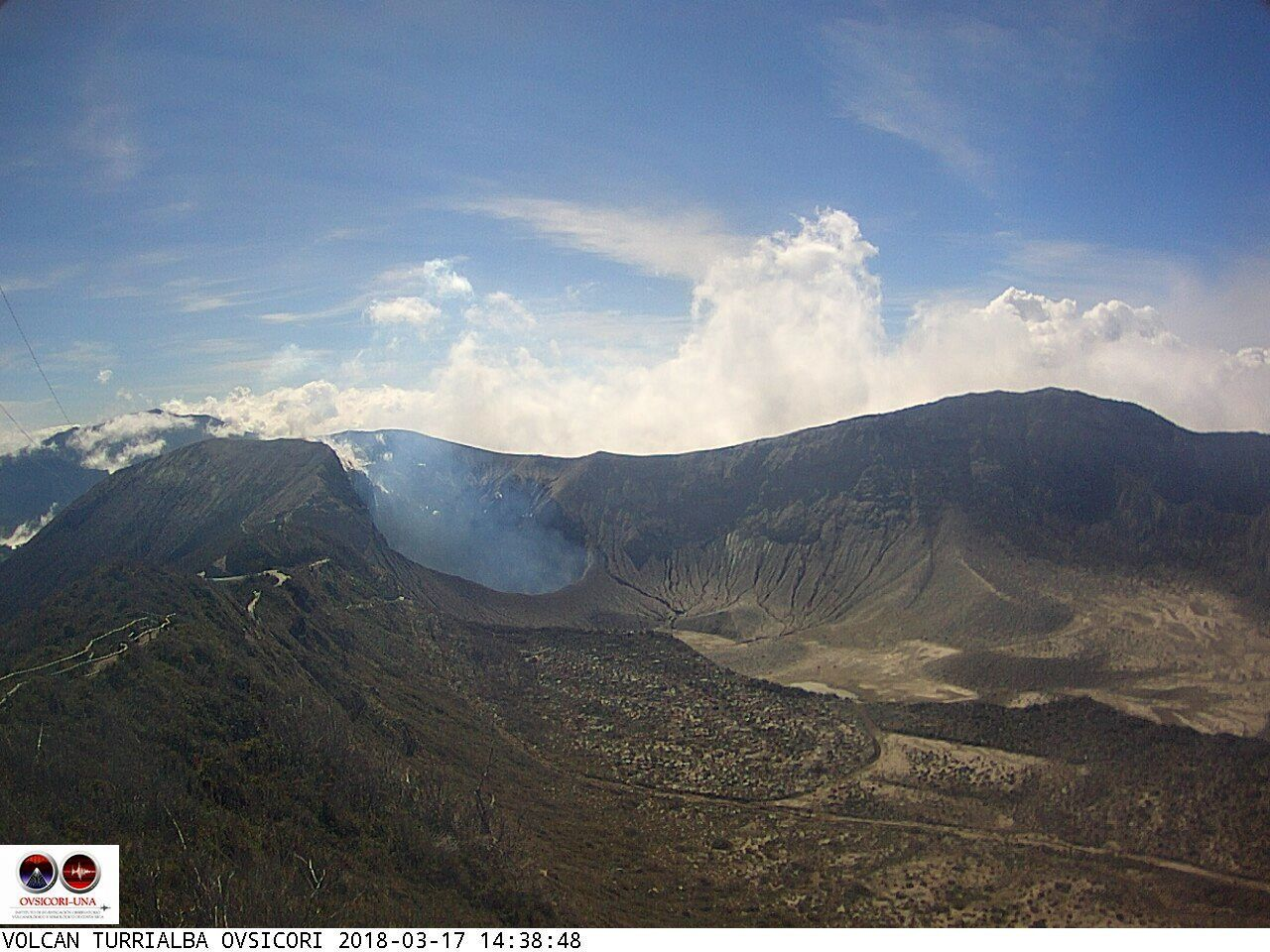 Turrialba - 17.03.2018 / 14:38 - webcam Ovsicori