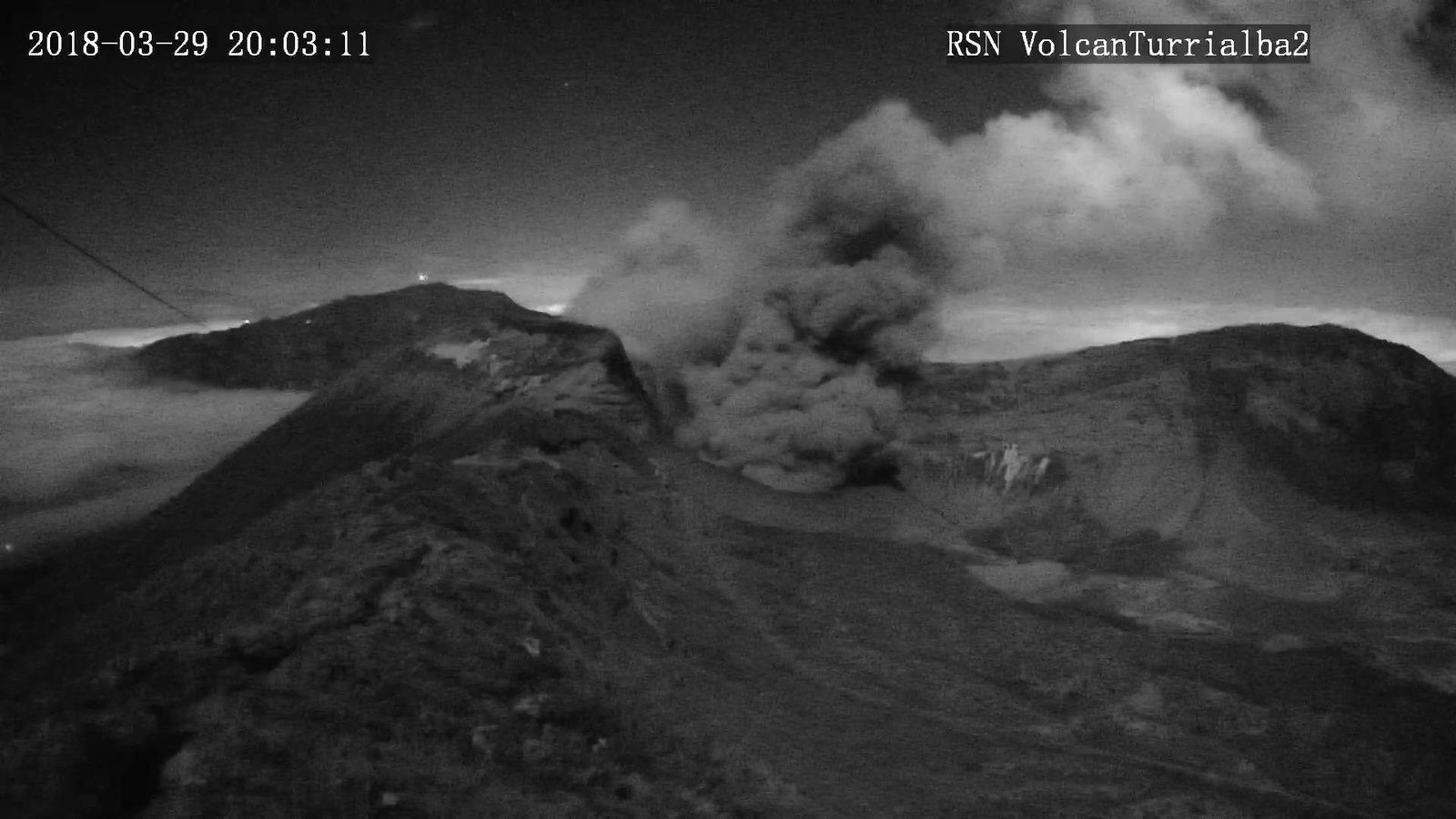Turrialba - 29.03.2018 / 20h03 - RSN webcam