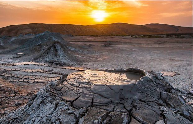 Le volcan de boue Ayrantokan - photo Vestnikkavkaza