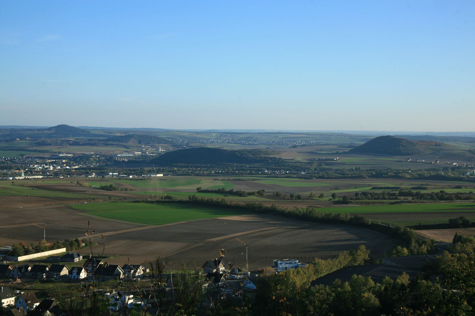 Some surviving volcanic cones seen from Nastberg / Eifel - photo © Bernard Duyck