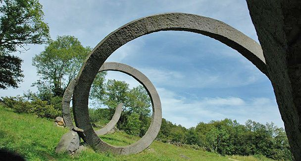 The Chemin Fais'art - monumental stone sculptures of Volvic - Auvergne Tourisme photo