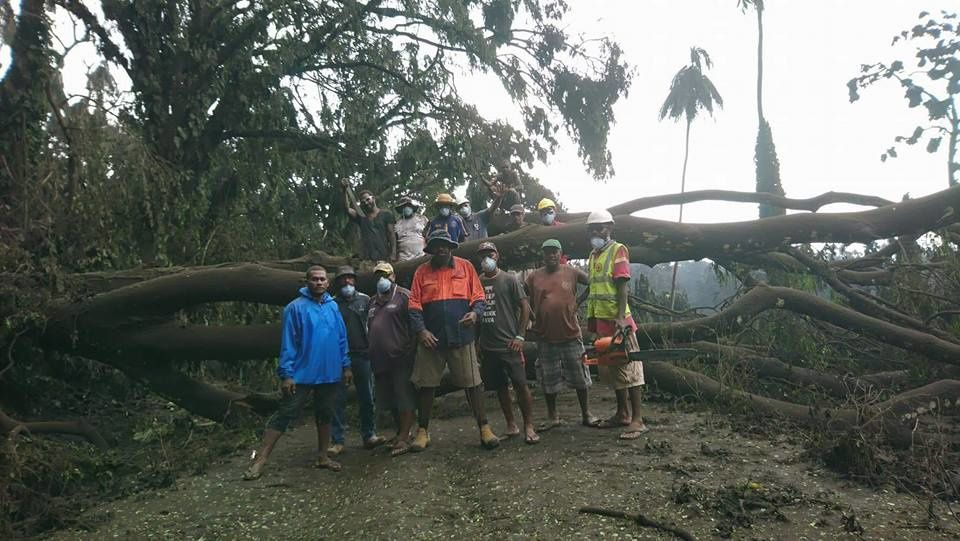 Ambae - tree falling on northern roads - photo 09.04.2018 Department of Water Resources-Vanuatu