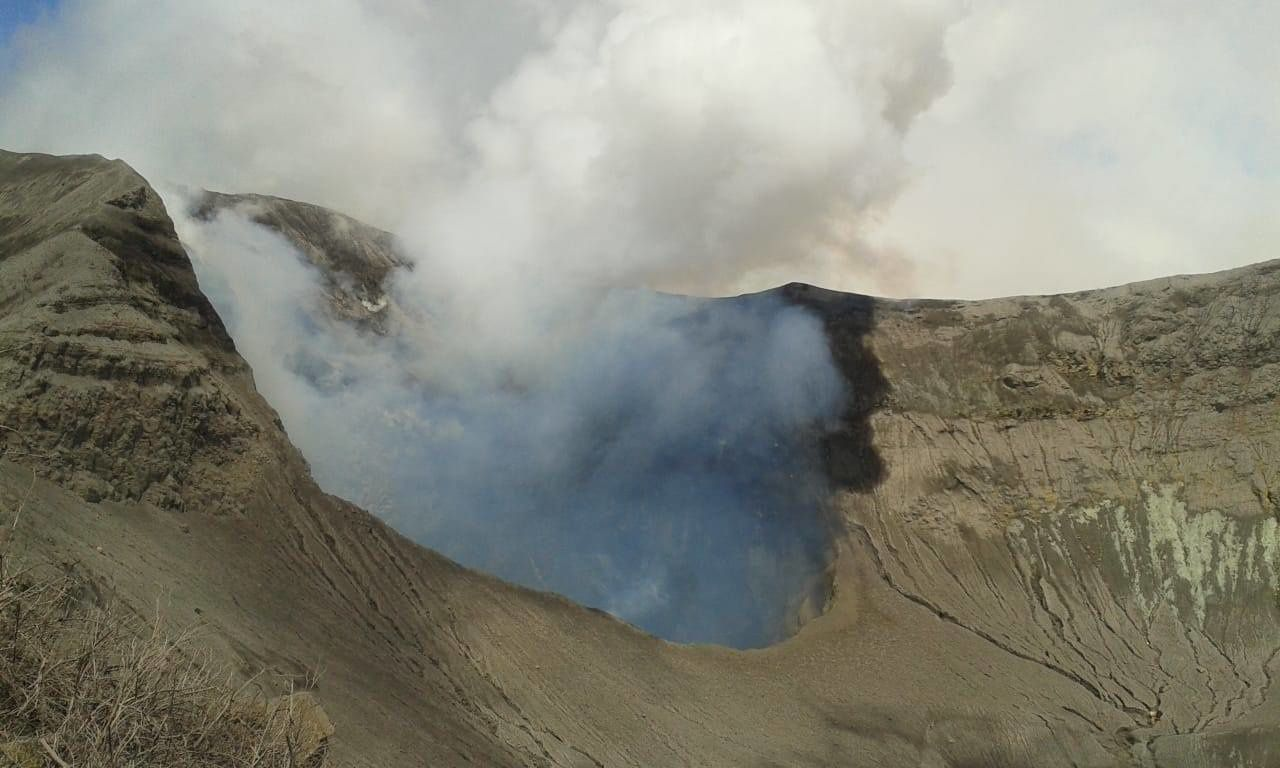Turrialba - 12.04.2018 - the crater at the time of the RSN field visit - photo Guillaume Alvarado (RSN: Ncu-Ice)